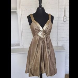 🧡BCBG Gold Bubble Dress Sz 6🧡